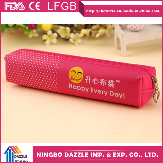 Wholesale Zipper Teenage Girls Cute Emoji Pencil Case for Kids