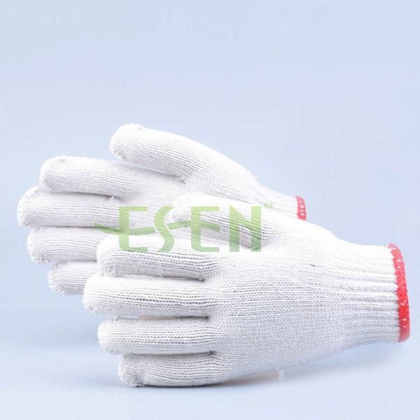 Heavy Weight Knit Glove /Soft White Cotton Gloves / Construction Work Gloves/ Garden Gloves