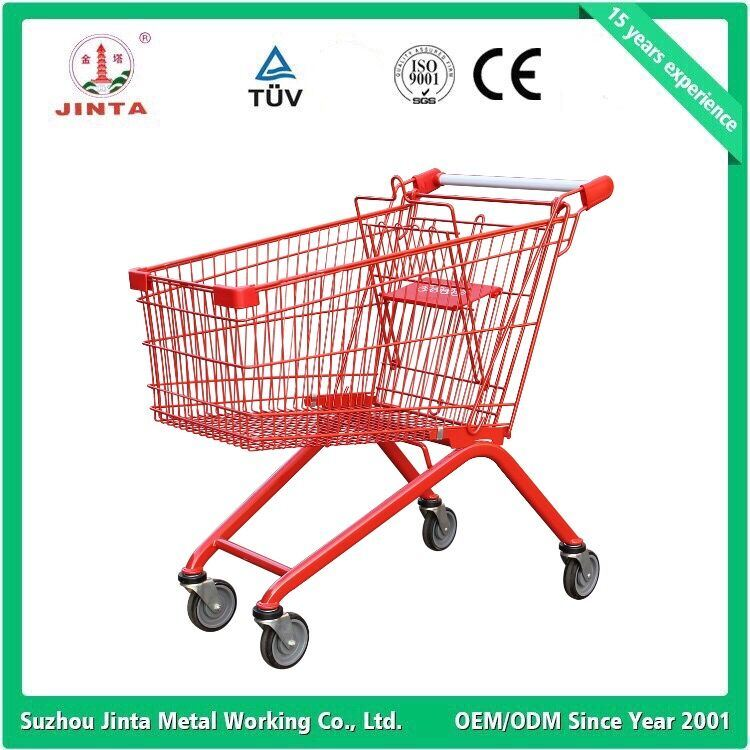 Ce Approved Metal Supermarket Shopping Cart (JT-E01)