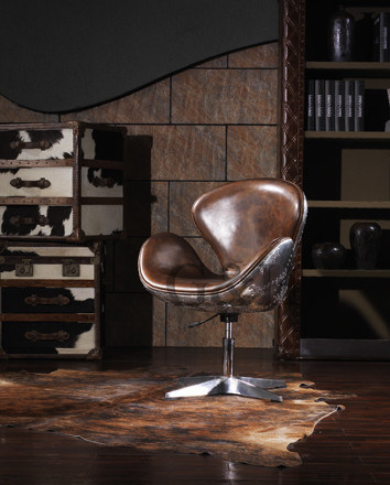 Swan Chair in Vintage Leather Gh620A