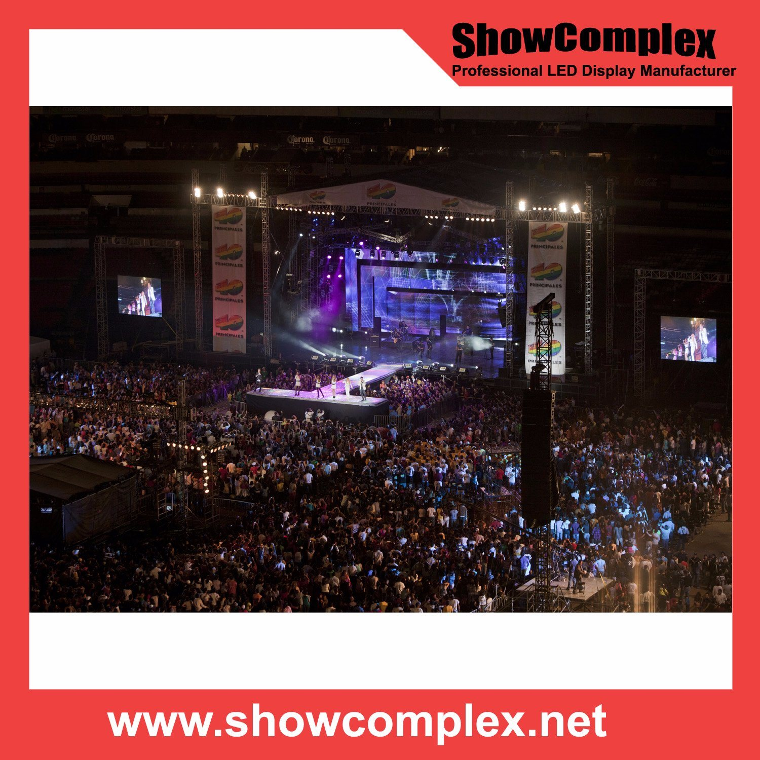 Outdoor Full Color Rental LED Video Display for Concert with High Brightness (500*500mm pH3.91)