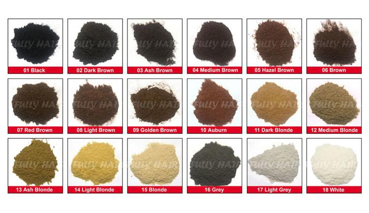 Fully Keratin Hair Building Fibers Private Label OEM/ODM