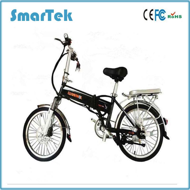 Smartek 16-Inch Mini Folding Electric Bicycle Patinete Electrico X-3