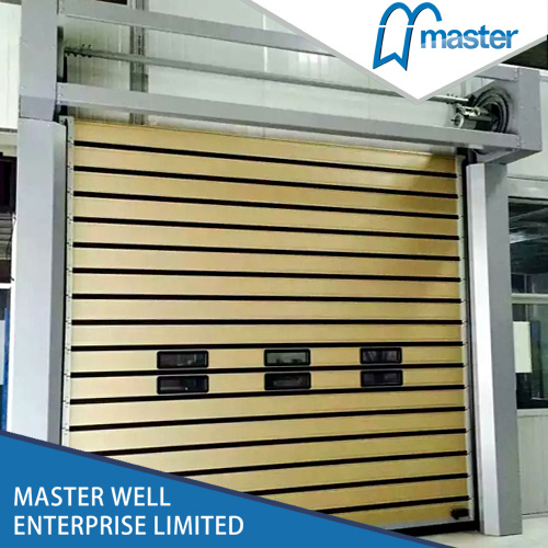 Aluminium Spiral Insulated Rolling Shutter High Speed Door