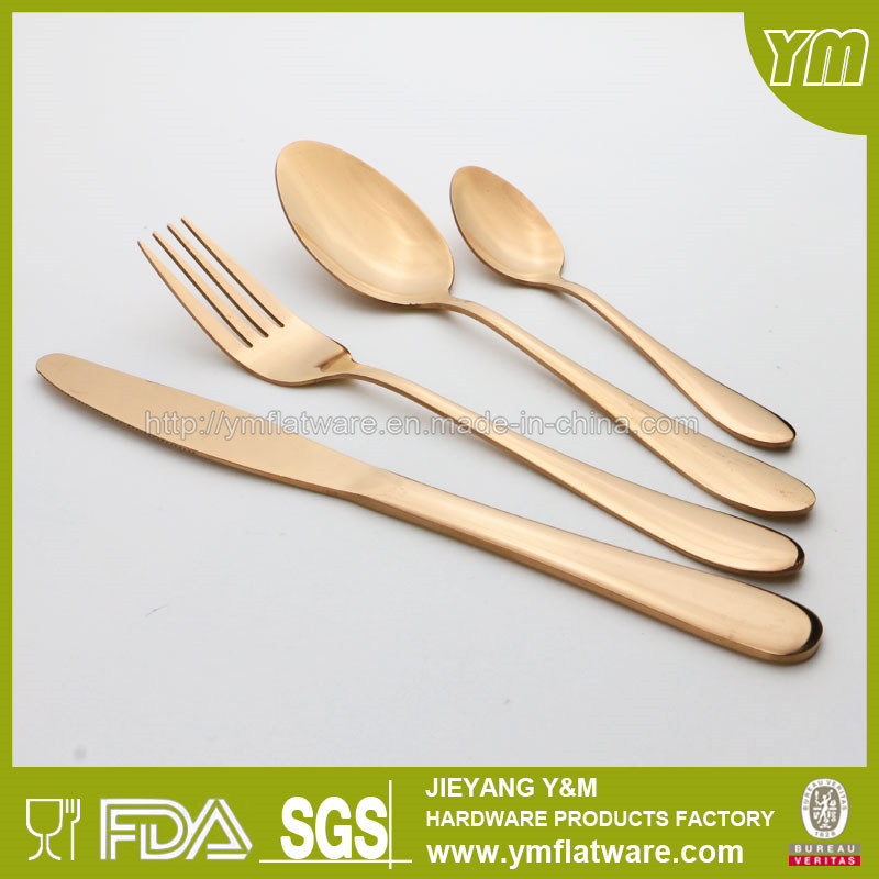 Good Quality Stainless Steel Tableware Set Gold Plating Flatware
