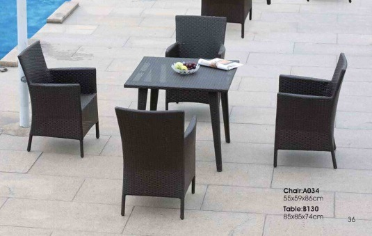 Modern Simple Rattan Outdoor Furniture Chair and Table