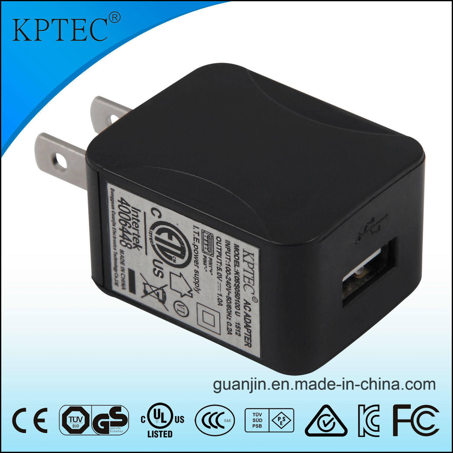 Kpetc 6V 1A USB Charger for Small Home Appliance Product USB