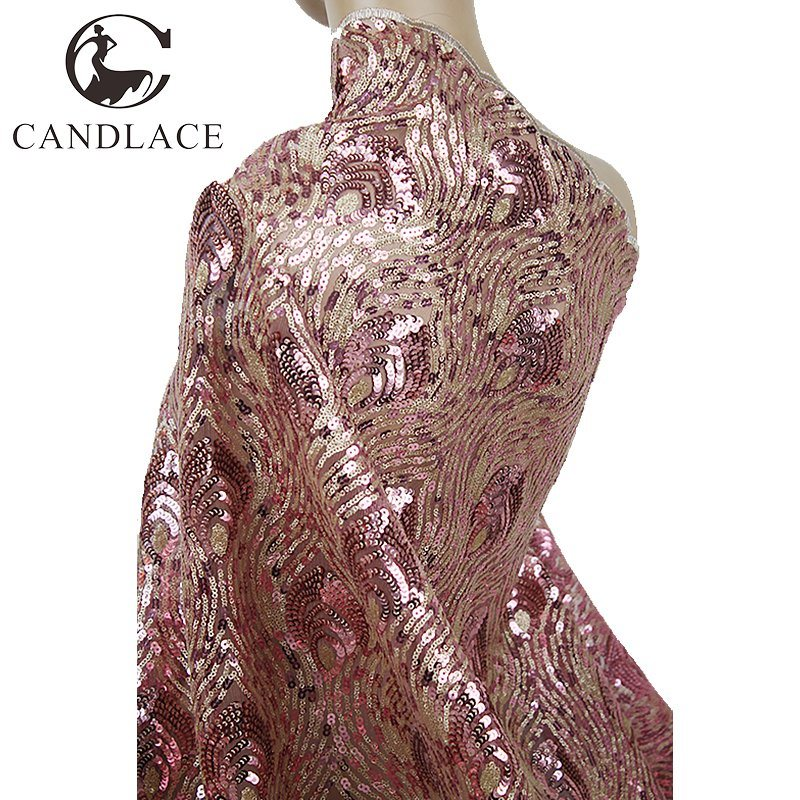 Multi Color Sequin Net Tulle Fabric