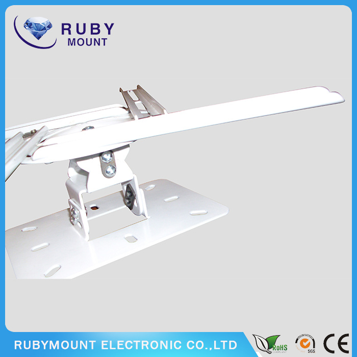 White Strong Ceiling Mount Projector Universal Wall Bracket