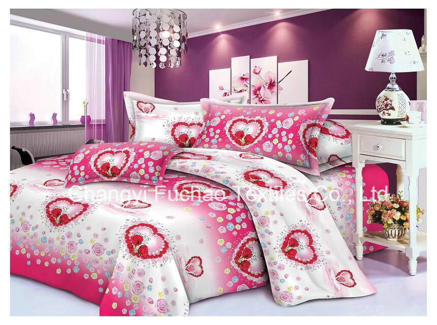 Polyester Microfiber Plain Dyed Cheap Bed Sheet Set Bedding Set