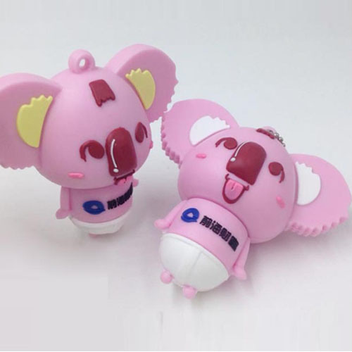 Pink Cute Koala Cartoon Gift USB Flash Drive Doll Gift Custom Logo USB 128GB 256GB