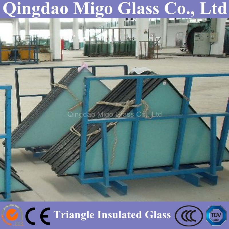 Architectural Triangle Shaped Double Glazing Hollow Glass for Building Window