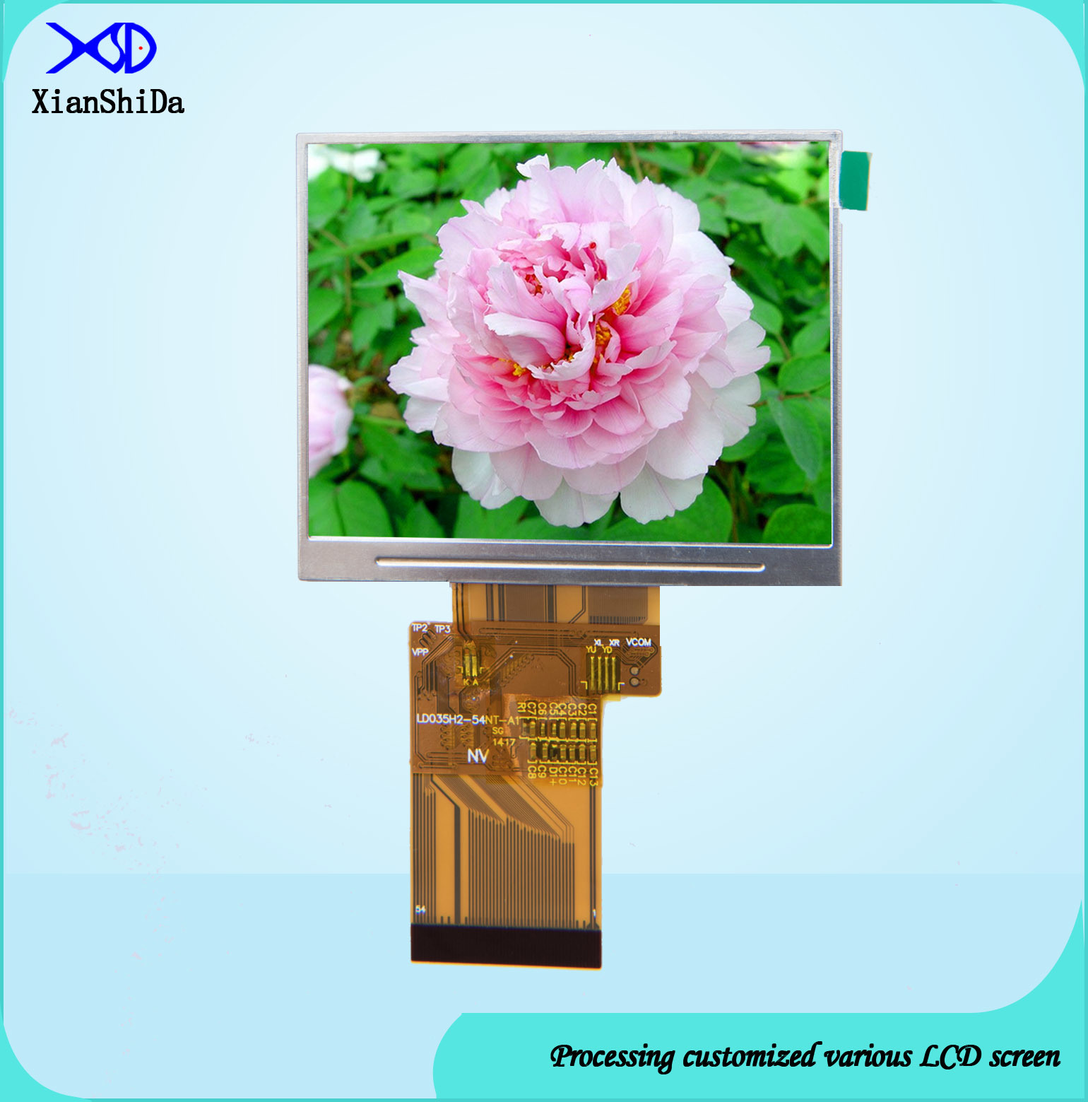 3.5 Inch LCD Screen with 550CD/M2 Brightness