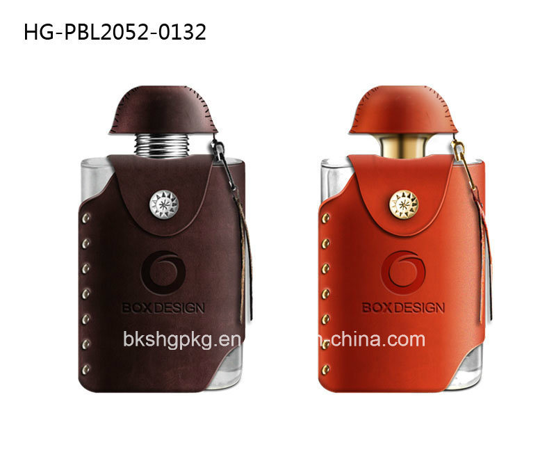 Hot Selling Luxury Arabic and French Perfume Bottle with Leather Cover