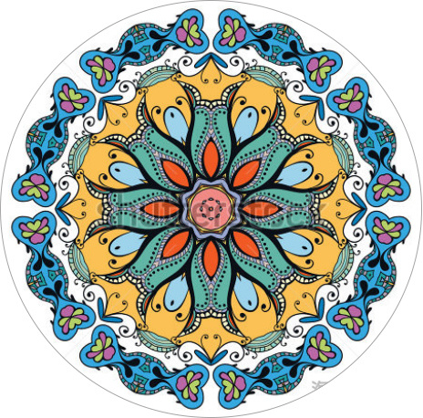 Mandala Round Yoga Mat for Meditation Mat