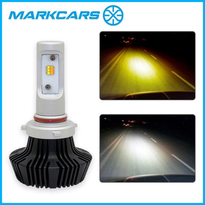 Markcars 2017 Dual Colors Car LED Headlight Th7 9005
