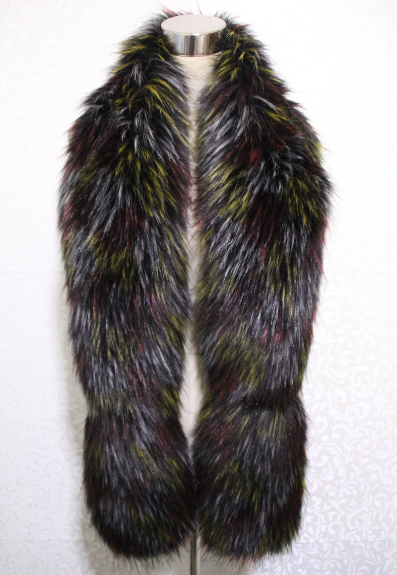 Lady Fashion Colorful Faux Fur Winter Long Scarf (YKY4628)