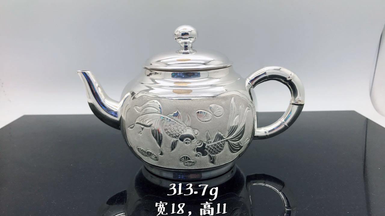 990 Fine Silver Teapot Authentic Handmade Silver Tea Factory Direct Sale