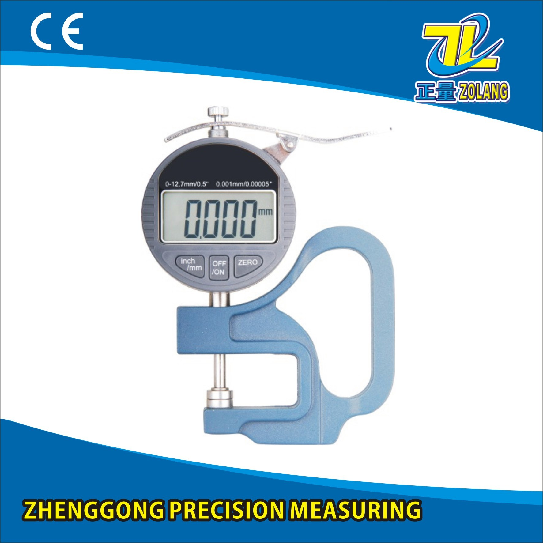0-12.7/0.001mm Blue Handle Digital Thickness Gauge