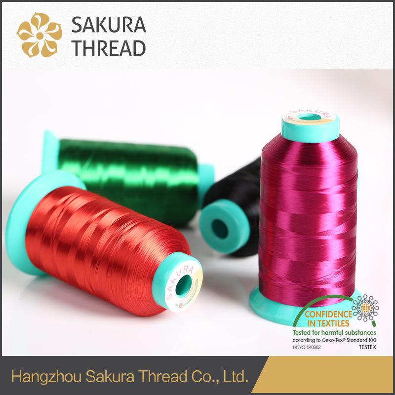 Rayon Embroidery Yarn 5000 Yards with Oeko-Tex100 1 Class