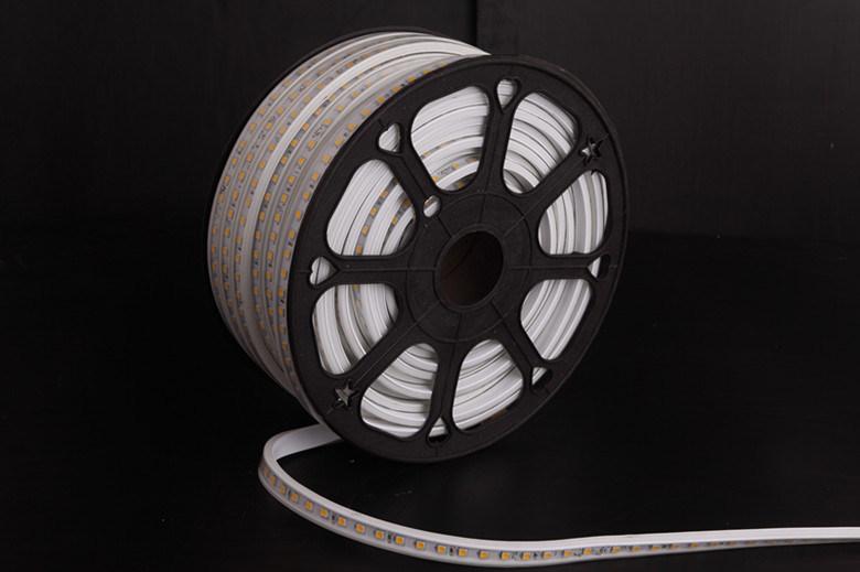 110V/230V Waterproof LED Rope Light White PVC High Brightness 5050 LED Strip LED