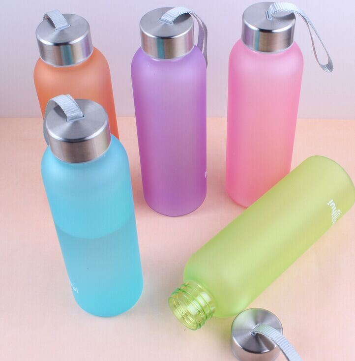550ml High Quality New Arrival PC Water Bottle, Frost Finish Plastic Water Bottle