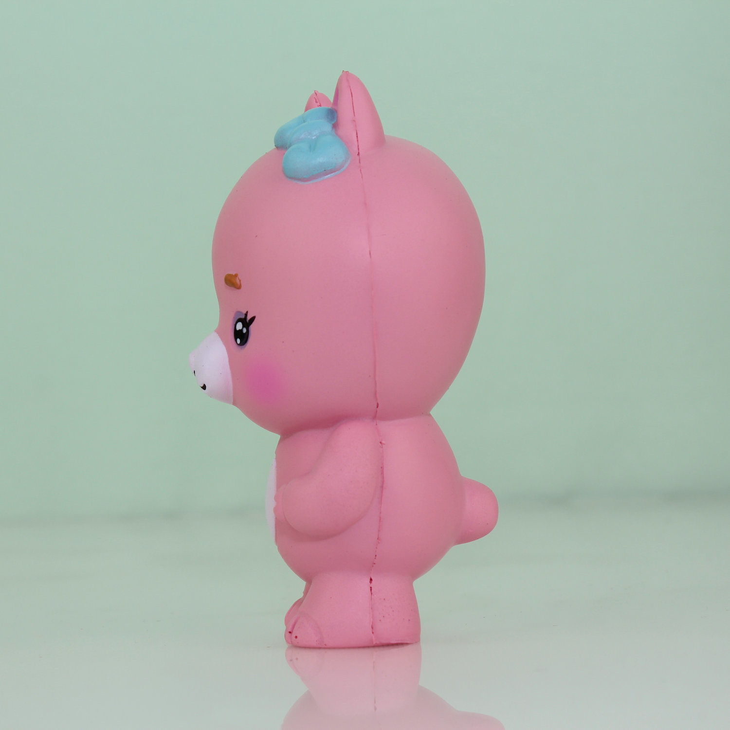 Very Resilient Squishy Red Goat Model PU Toy