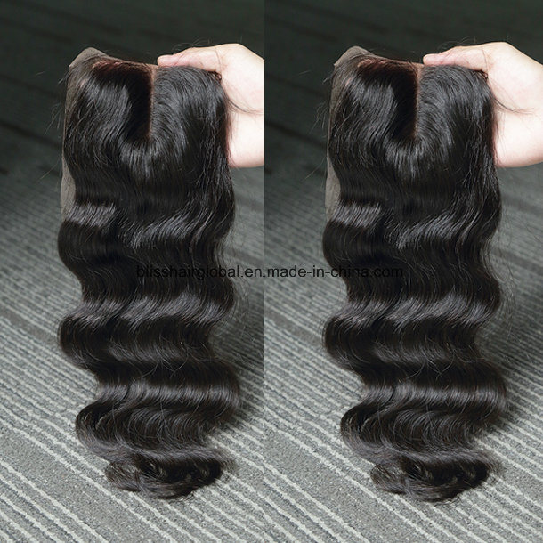 Brazilian Hair Body Wave 4 X 4 Lace Closure Three Part