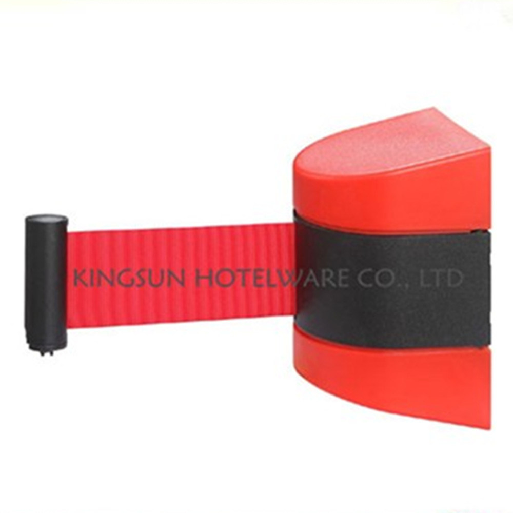 Colorful Wall Mount Retractable Belt Queue Stanchion for Hotel