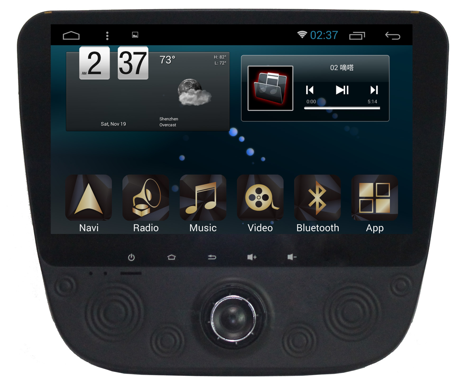 New Ui Android System Car Video for Malibu XL 2015 with Car GPS Navigation