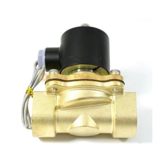 2W Series Water Solenoid Valve Brass 2/2 Way Direct Acting Industrial Valve