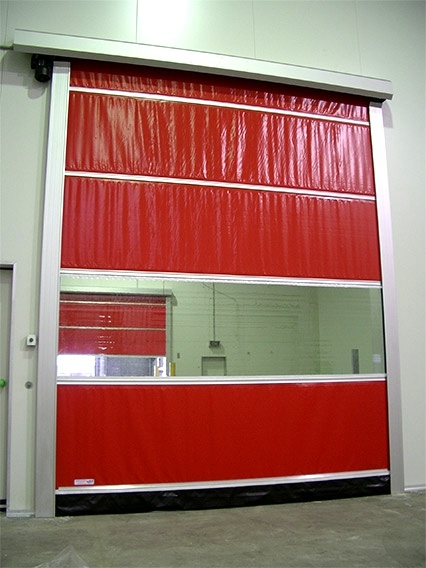 Wholesale Multiple Color High Speed Rolling Soft PVC Fabric Curtain Door (Hz-HSD07)