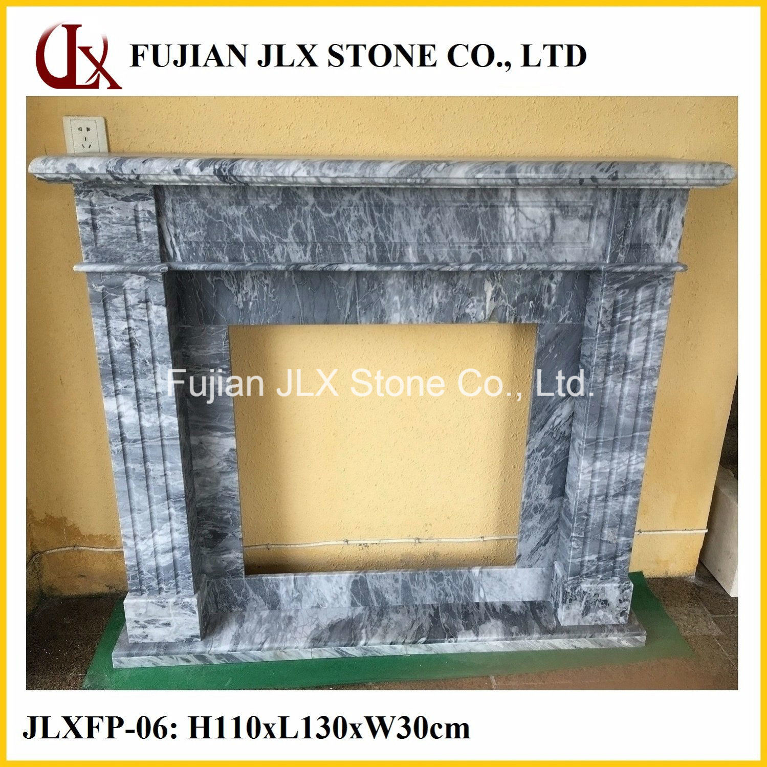Marble Stone Carving Fireplace Mantel
