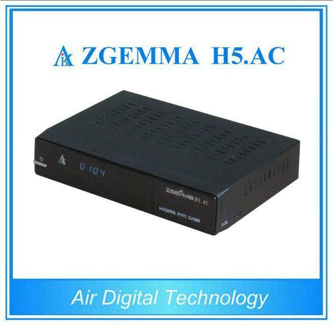 ATSC+DVB-S2 Hevc/H. 265 Two Tuners for America/Mexico Satellite TV Receiver Zgemma H5. AC