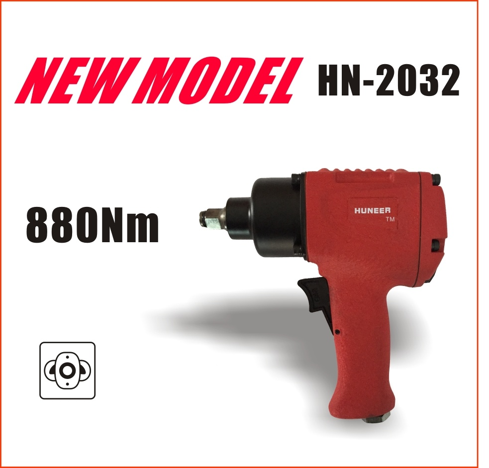 Heavy Duty Air Tools with Max Torque 880nm (New model: HN-2032)