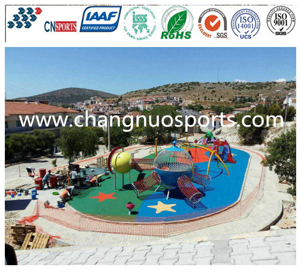 Non Toxic and Harmless Sports Flooring for Runway, Running Track, School Playground
