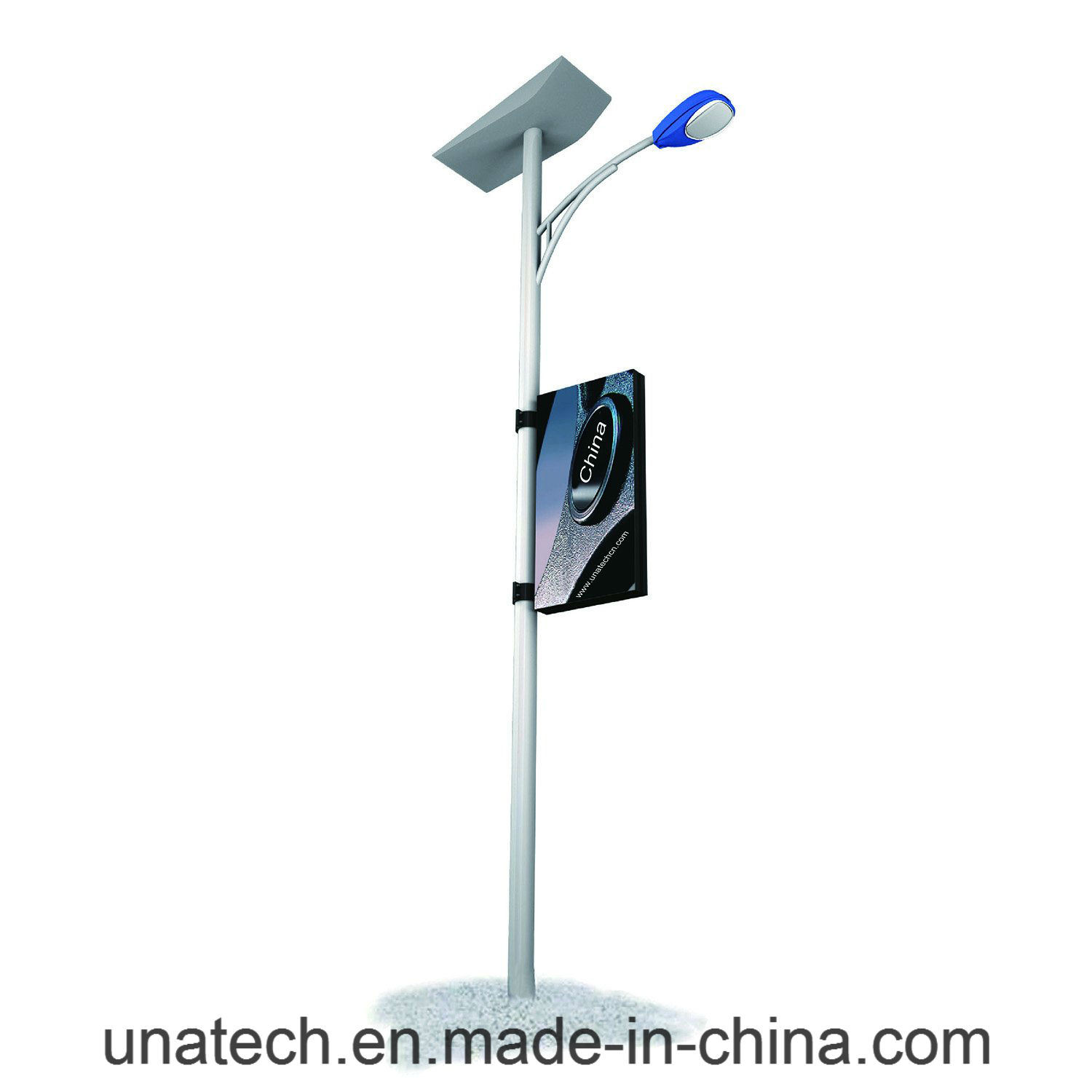 Outdoor Lamp Pole Advertising Media LED Banner Light Box
