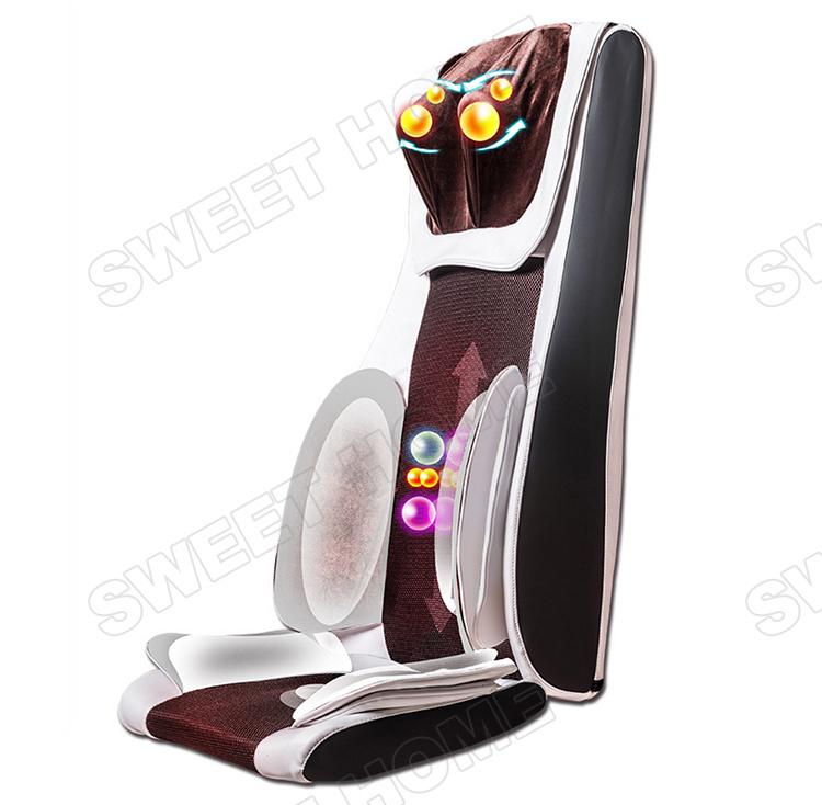 Neck and Back Shiatsu Vibration Butt Massage Cushion for Chair