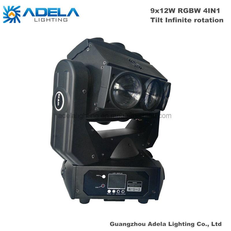 9X12W Infinite Phantom Beam Light LED Moving Head Spotlight