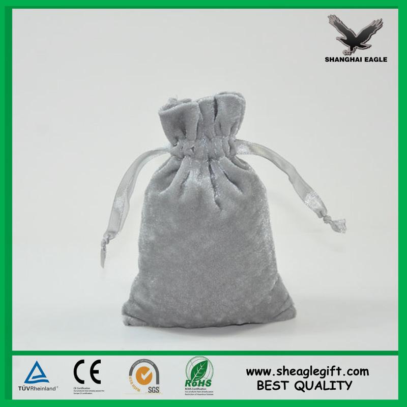 Custom Jewel Packaging Man Made Suede Bag Shanghai Factory Supply