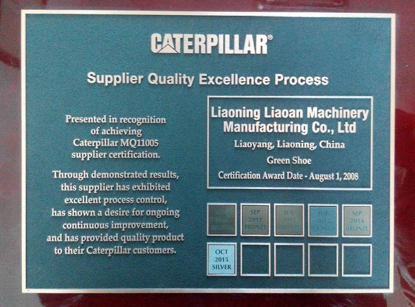 Liaoning Liaoan Machinery Manufacturing Track Shoe for Caterpillar