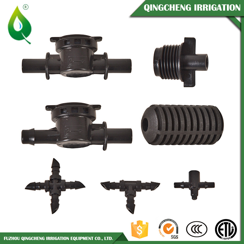Black Barb Socket Watering Irrigation Anti-Drip Valve
