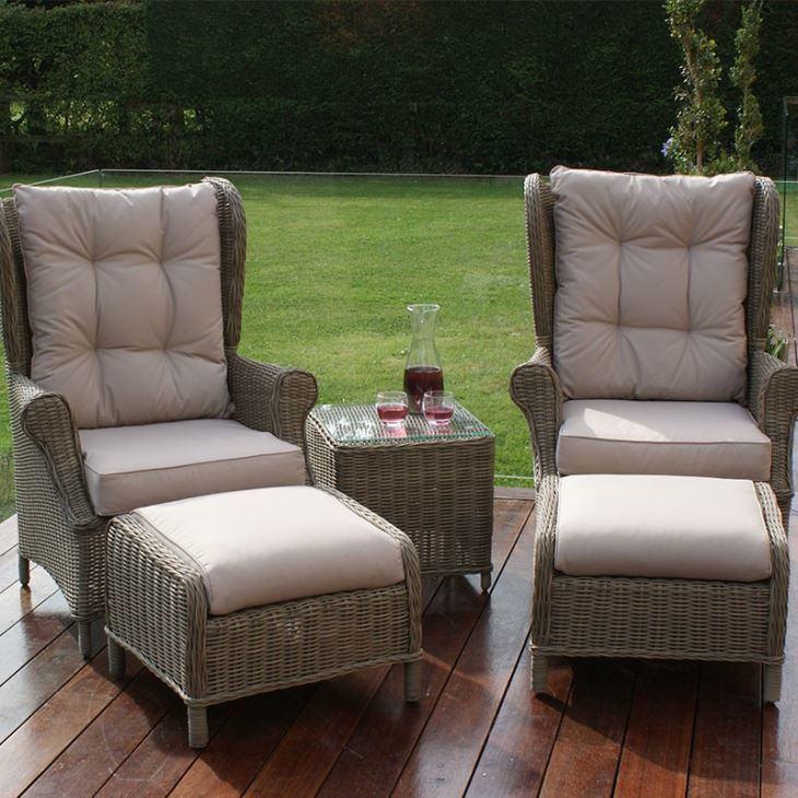 Well Furnir-Rattan Supplier Manufacturing Garden Furniture High Back 3 Piece Lounge Set