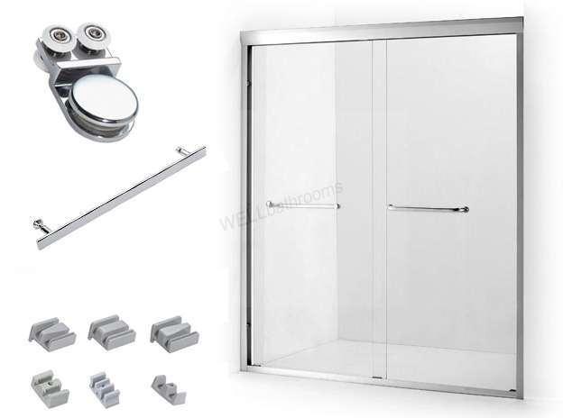 Deslizar recinto de la ducha con el rodillo de puerta y la for Manija para ducha