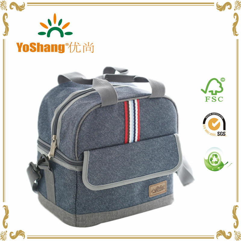 Large Shoulder Ice Cooler Bags Insulated Pack Drink Food Thermal Leisure Women′s Kid′s Picnic Lunch Pouch Box Accessories
