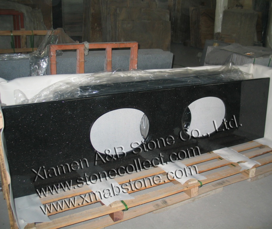 Countertop In Absolute Black Granite-Black