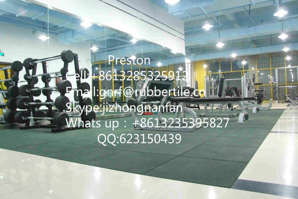 Rubber Flooring Tile, Gym Flooring Mat, Playground Antishocking Carpet