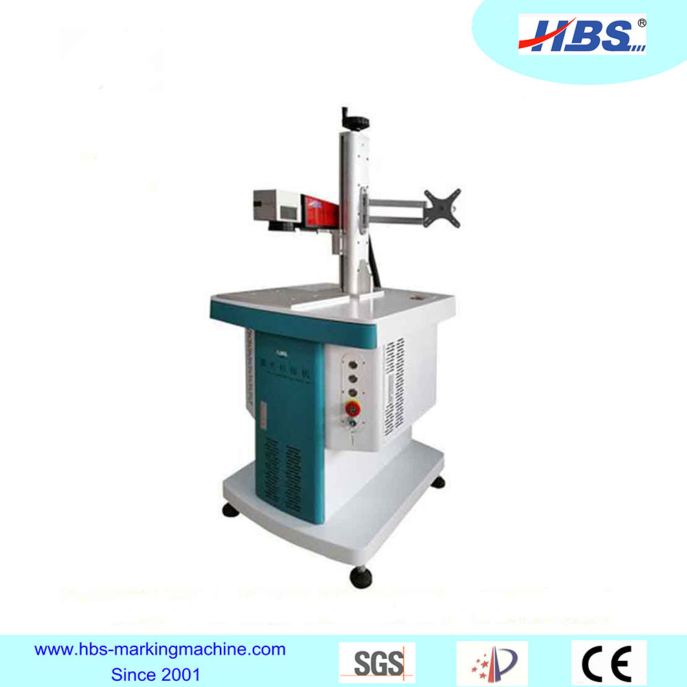 Metal and Plastic Fiber Laser Marking Machine with Raycus Laser Source