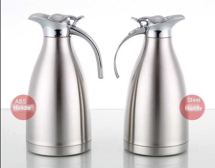 201 Stainless Steel Vacuum Coffee Pot with ABS Handle