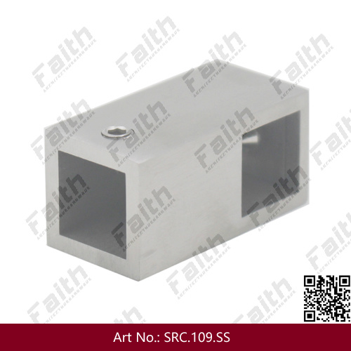 Stainless Steel Square Tube Connector for Frameless Glass Door